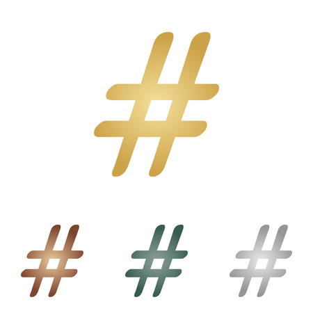 microblogging: Hashtag sign illustration.
