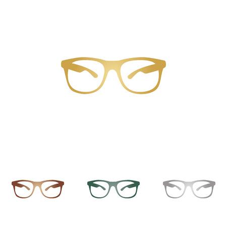 Sunglasses sign illustration.