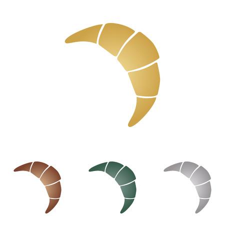 Croissant simple sign.