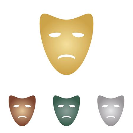 Tragedy theatrical masks. Illustration