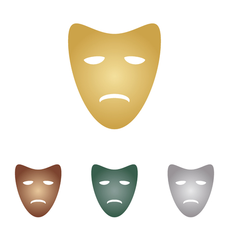 comedy show: Tragedy theatrical masks. Illustration