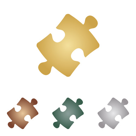 Puzzle piece sign.