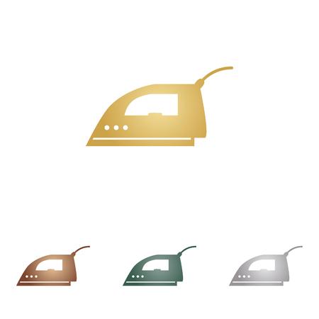 Smoothing Iron sign. Illustration