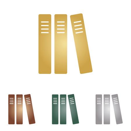 row: Row of binders, office folders icon.