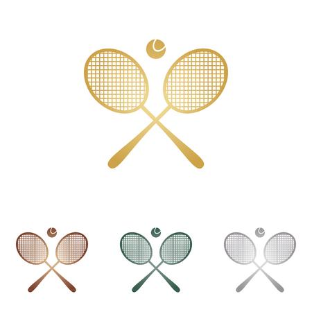Tennis racket sign.