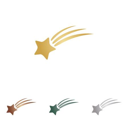 falling star: Shooting star sign.