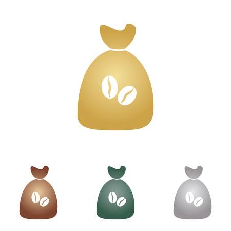 Coffee bag Icon. Coffee bag Vector. Coffee bag Icon Button.
