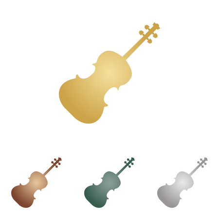 shiny buttons: Violin sign illustration.