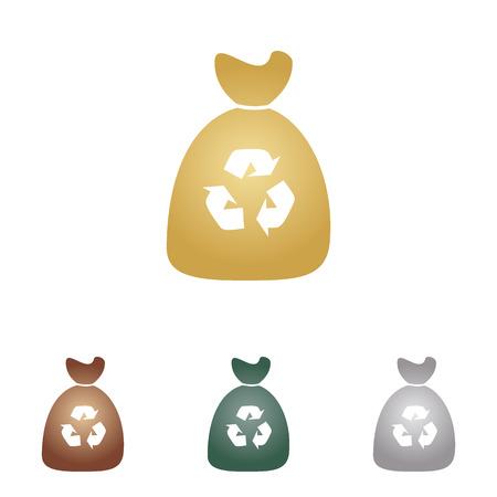 Trash bag icon.
