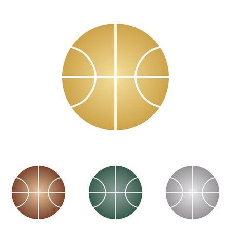 Basketball ball sign illustration.