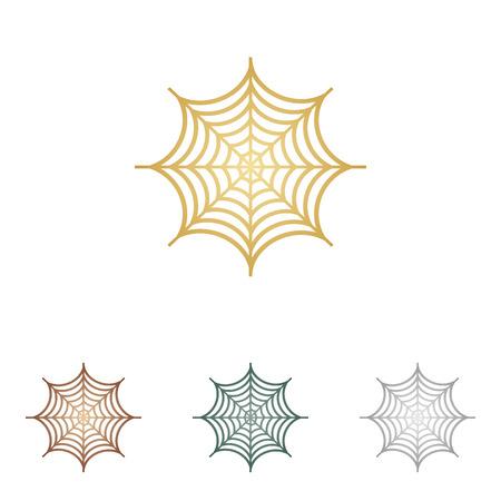 spider web: Spider on web illustration. Illustration