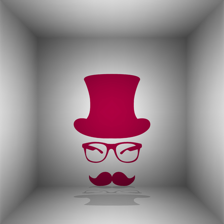 Hipster accessories design. Bordo icon with shadow in the room.