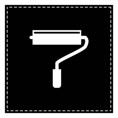 Roller sign illustration. Black patch on white background. Isolated. Illustration