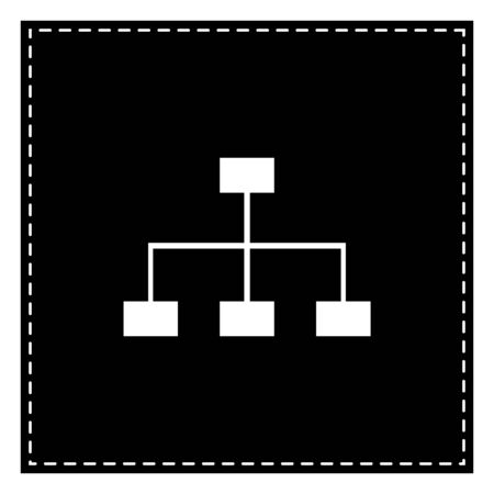 Site map sign. Black patch on white background. Isolated. Illustration