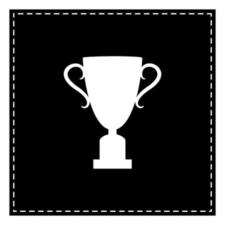 챔피언 컵 기호입니다. 흰색 배경에 검정 패치입니다. 외딴.