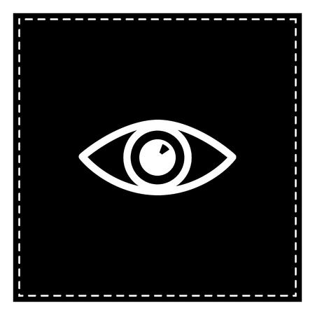 Eye sign illustration. Black patch on white background. Isolated.
