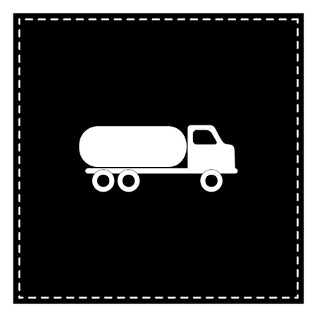 Car transports sign. Black patch on white background. Isolated. Illustration