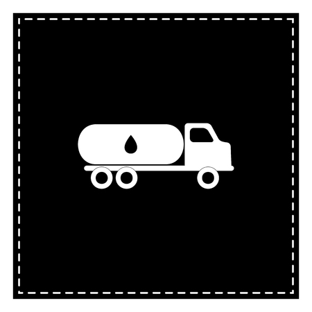 Car transports Oil sign. Black patch on white background. Isolated. Illustration