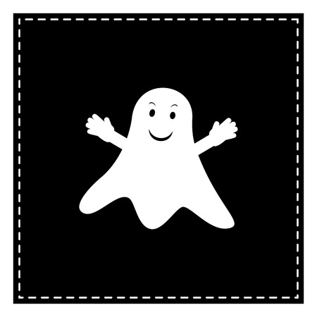 Ghost isolated sign. Black patch on white background. Isolated.