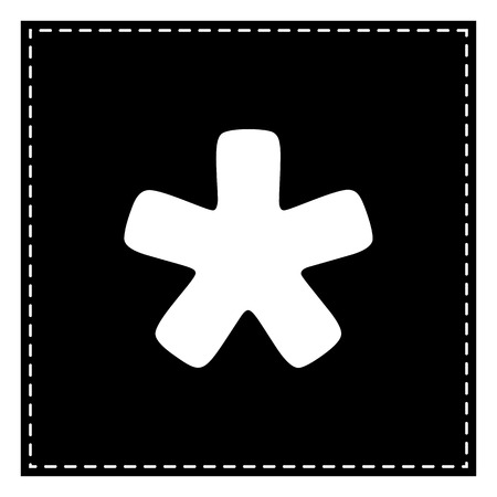 Asterisk star sign. Black patch on white background. Isolated. Иллюстрация