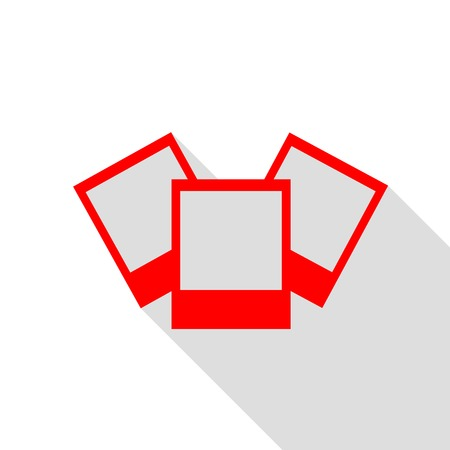 Photo sign illustration. Red icon with flat style shadow path. Illustration