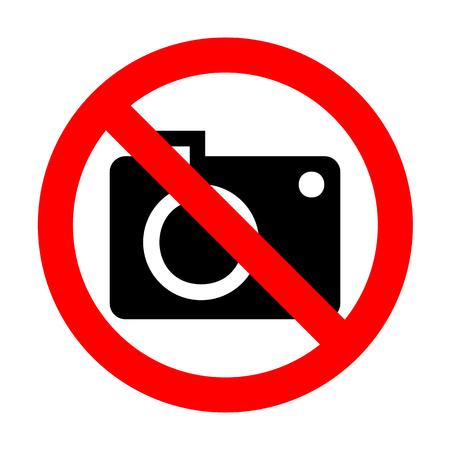 No Digital camera sign. Illustration
