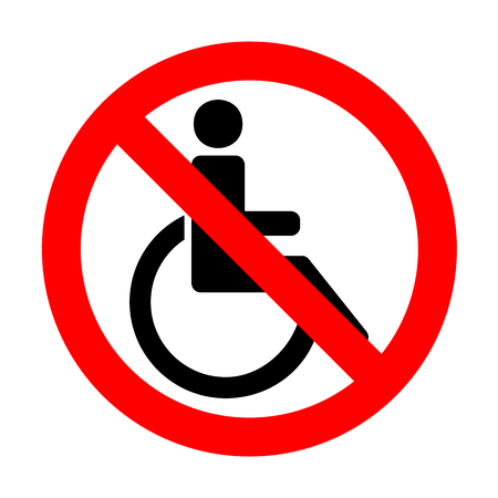 invalid: No Disabled sign illustration. Illustration