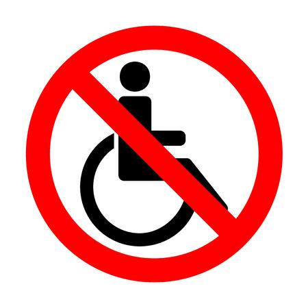 disabled sign: No Disabled sign illustration. Illustration