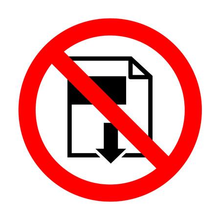 No File download sign. Illustration