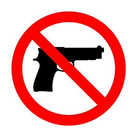 No Gun sign illustration.