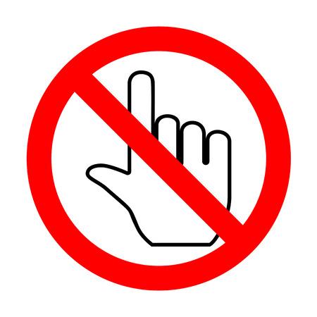 depress: No Hand sign illustration.