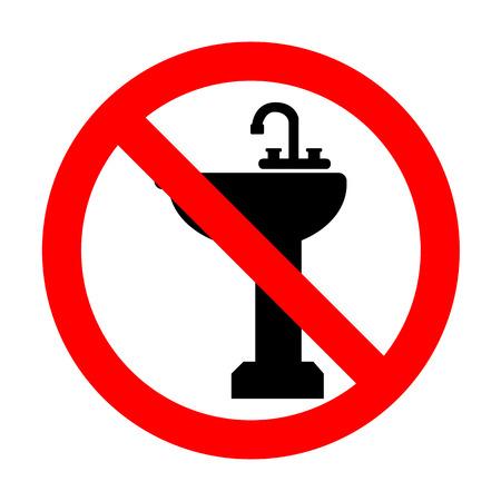 necessity: No Bathroom sink sign.
