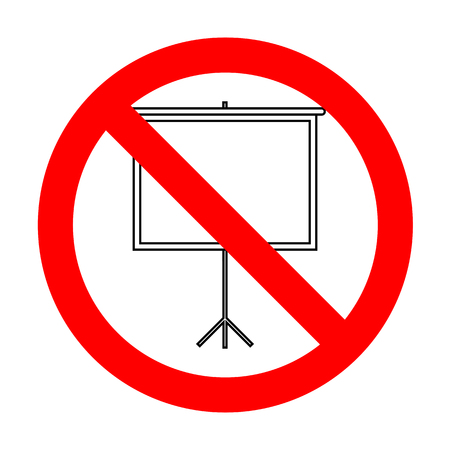 No Blank Projection screen. Illustration