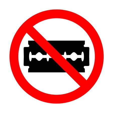 blade: No Razor blade sign.