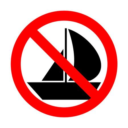 No Sail Boat sign.
