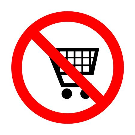 No Shopping cart sign.