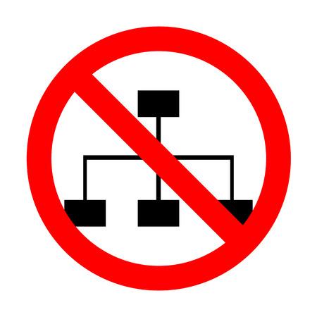 No Site map sign. Illustration