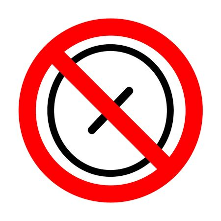 No Cross sign illustration.