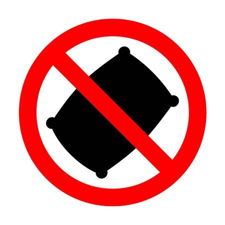 No Pillow sign illustration. Illustration