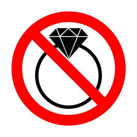 No Diamond sign illustration. Illustration