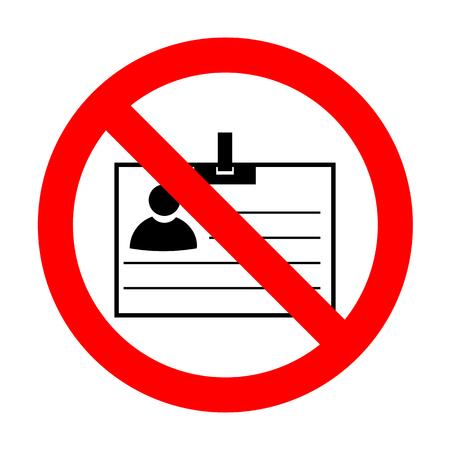 No Id card sign.