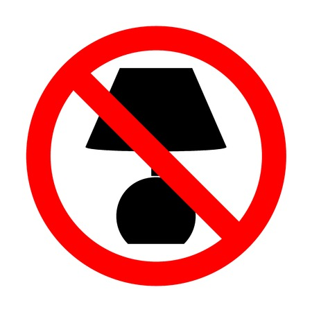 No Lamp sign illustration. Illustration