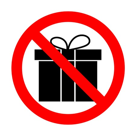 No Gift box sign.