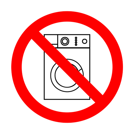 major household appliance: No Washing machine sign.