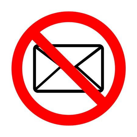 No Letter sign illustration.