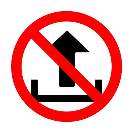 No Upload sign illustration. Illustration