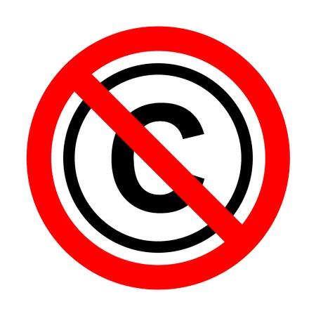 No Copyright sign illustration.