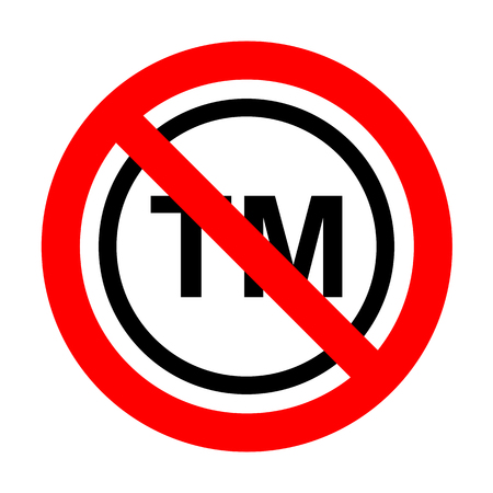 No Trade mark sign. Ilustrace