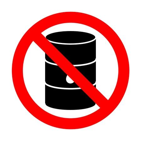 No Oil barrel sign.