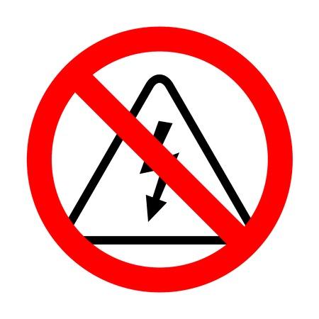 No High voltage danger sign. Illustration
